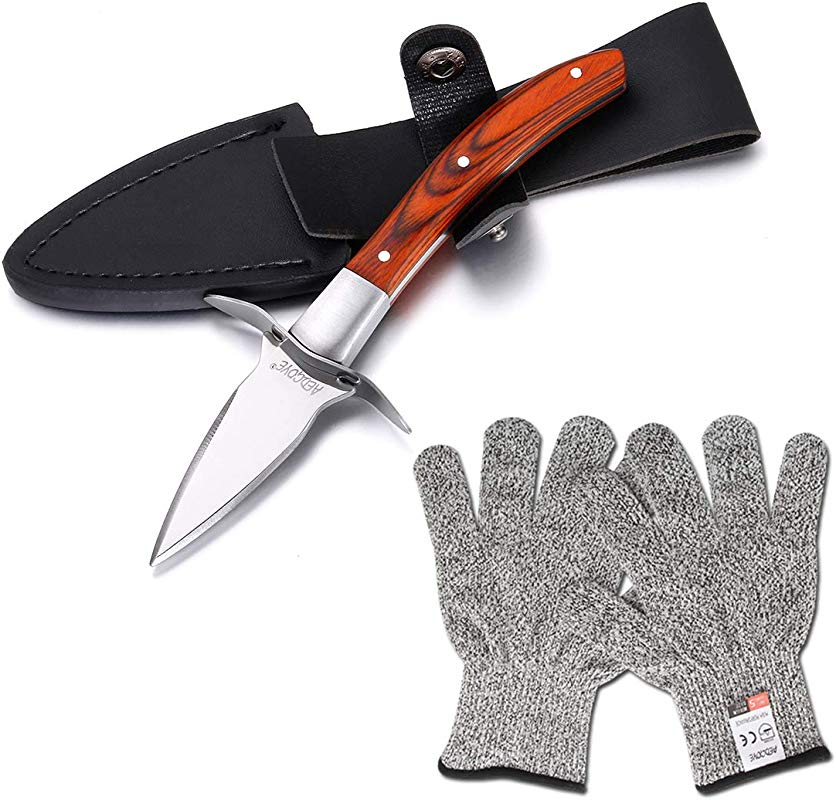 Aedgoye Oyster Shucking Knife Wood Handle Shuck Oysters And Clams Safely With A Clam Or Oyster Knives