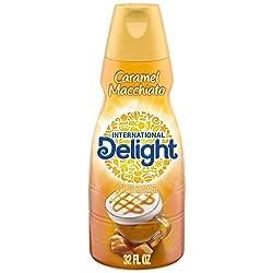 International Delight Caramel Macchiato Coffee Creamer Non-Dairy Quart, 32 Ounce