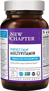 New Chapter Calming Supplement - Perfect Calm Multivitamin for Stress + Mood Support with B Vitamins + Holy Basil + Lemon ...