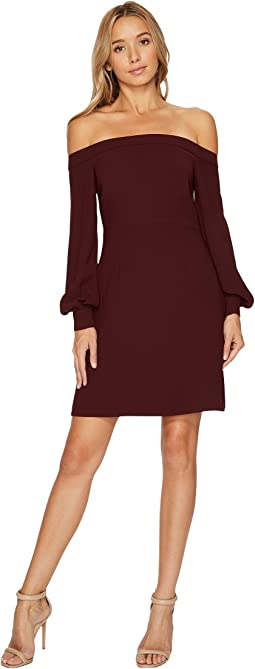 JILL JILL STUART - Off the Shoulder Long Sleeve Short Dress