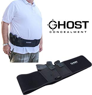 "Ghost Concealment L Belly Band Holster for Concealed Carry | Fits up to a 54"" Belly 