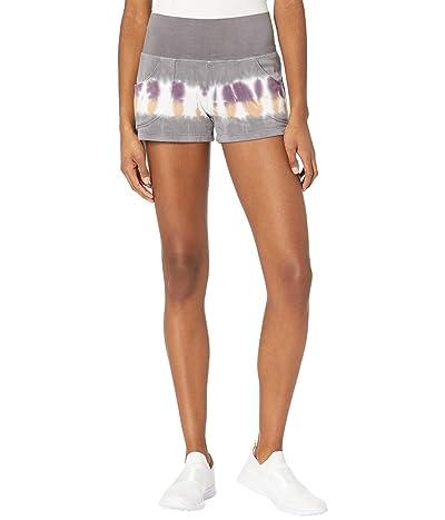 Hard Tail Flat Waist Shorts (Multicolor Lines # 1) Women