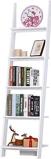 HOMCOM Estantería de Escalera Librería con 5 Estantes Moderna Estantería Escalonada de Pared para Baño Salón Terraza 50x40...