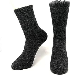 Mongolia Pure Cashmere Thick Women Woman Men Man Unisex Crew Mid Calf Causal Socks(1 pairs)