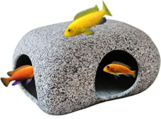 SpringSmart Aquarium Hideaway Rocks for Aquatic Pets to Breed, Play and Rest, Safe and Non-Toxic Ceramic Fish Tank Ornamen...