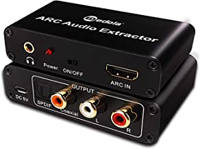 HDMI ARC Adapter, edola HDMI ARC Audio Extractor Adapter 4K HDMI Audio Splitter with Digital Optical Toslink Coaxial and Analog 3.5mm L/R Stereo Audio for HDTV Soundbar Speaker Amplifier Home Theater.