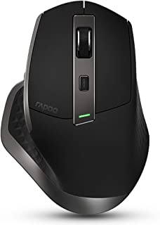 Rapoo MT750S wireless bluetooth mouse Office mouse ergonomics rechargeable mouse computer mouse laptop mouse black