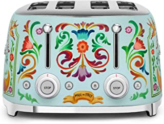 """Dolce and Gabbana x Smeg TSF03DGUS 4 Slice Toaster,""""Sicily Is My Love,"""" Collection"""