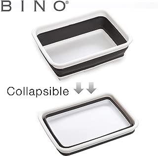 BINO Collapsible Wash Basin - Space Saving Portable Folding Dish Pan Dish Tub, White