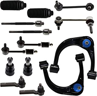 Detroit Axle - New 14-Piece Front Suspension Kit - (2) Front Upper Suspension Control Arms & Ball Joints, all (4) Front and Rear Stabilizer Sway Bar End Links [Not for Dynamic Suspension Models]