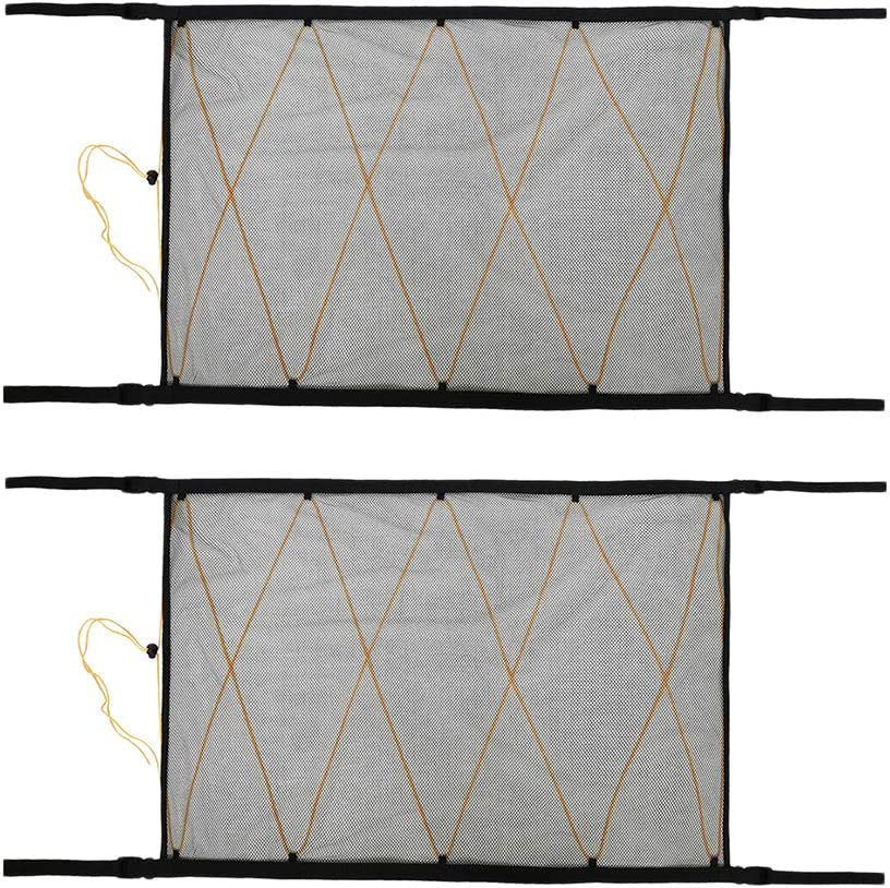 Homyl Low price 2 Pieces 90x65cm Car Roof Interior Ceiling Net Cargo Mesh Limited time for free shipping