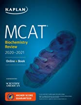 MCAT Biochemistry Review 2020-2021: Online + Book (Kaplan Test Prep)
