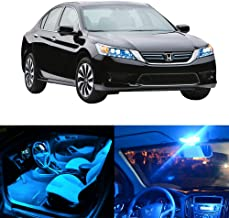 SCITOO 8Pcs Ice Blue Interior LED Light Package Kit Replacement Bulbs Fits for 2013-2016 Honda Accord