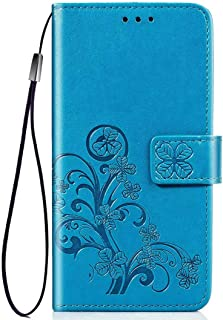 PICKQIU Case for Huawei Y9s, Premium Thin Fit Retro PU Leather Printed protective cover,Shockproof Wallet Book Case for with Magnetic Closure and Card Slots -Blue