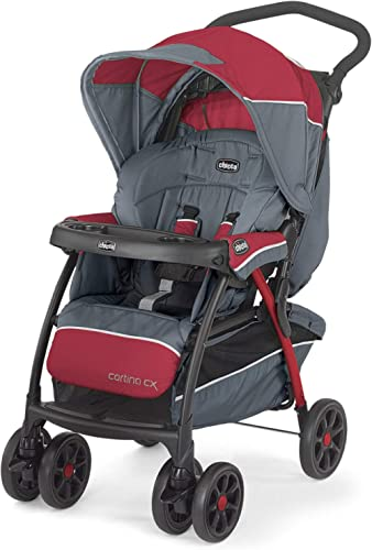 Chicco Cortina CX Stroller (Lava), Strollers for newborn babies and toddlers, 0-4 years, Pram for boys and girls