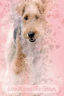 Wire Haired Fox Terrier: Pink Notebook or Journal with Lines - Wire Haired Fox Terrier (Valentine's Day Pink Waffle Diary)
