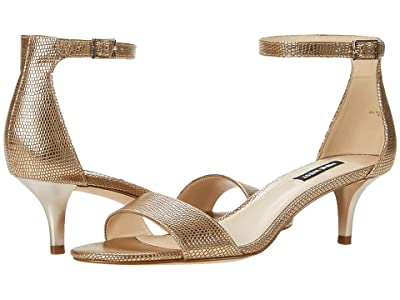 Nine West Leisa Heel Sandal (Gold) Women