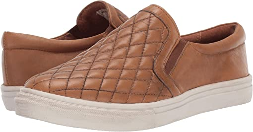Brown Burnished Quilted Leather