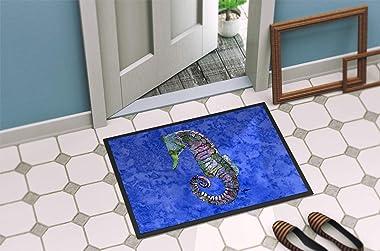 """Caroline's Treasures 8639JMAT Seahorse Indoor or Outdoor Doormat, 24"""" x 36"""", Multicolor"""