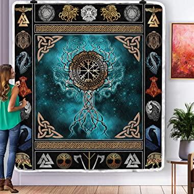 Viking Tree of Life Quilt Quilt Sets King Queen Twin Throw Size - Birthday Bedding Cover Patchwork Wall Hanging Xmas Quilt Gi
