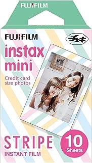 Instax Mini Stripe 10pk Film Suitable for Instax Mini Cameras Including 7S,25, 50S, 8, 70 & 90, Also Share Printer SP-2