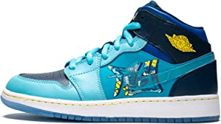 Jordan Air 1 Mid (GS) (Blue Void/Clear-Team Royal, 3.5Y)