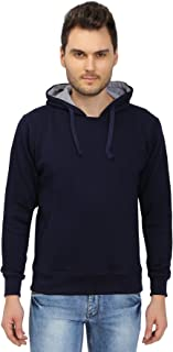 The Cotton Company Fleece Hoodie Pullover for Men (Navy Blue)