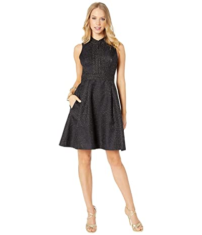 Lilly Pulitzer Franci Dress (Onyx Lagoon Jacquard) Women