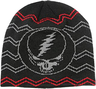Grateful Dead Steal Your Face Knit Beanie Skull Cap Winter Hat - 2 Colors