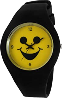 Emoji Style Rubber Watch, Colorful Smile Icon Fun Smiley Face Wrist Watch, Great Christmas Stocking Stuffers
