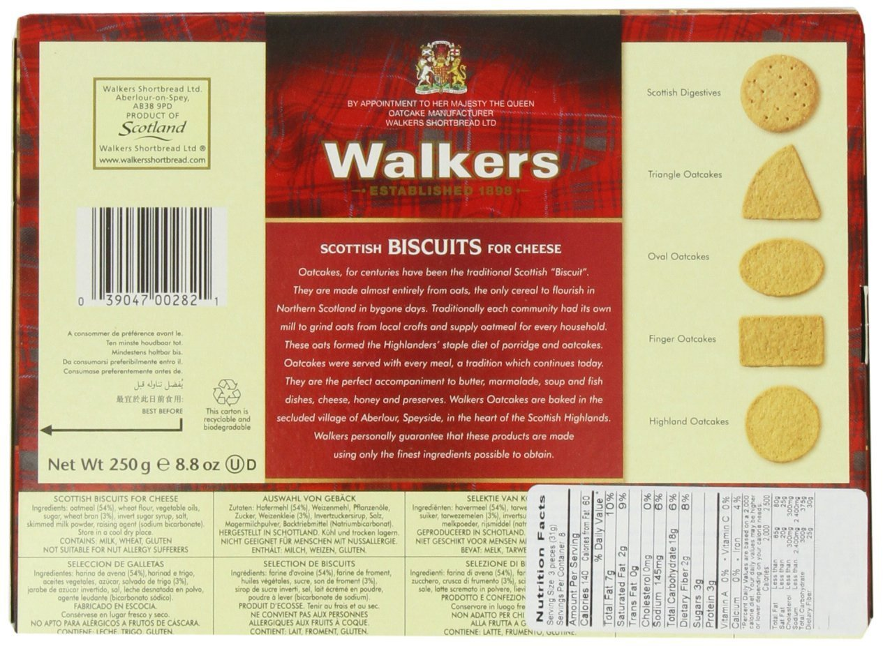 Walkers Shortbread Oat Crackers (Scottish Biscuits for Cheese), 8.8 ounce