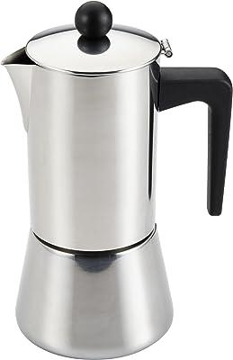 BonJour Máquina para hacer café expreso sobre la estufa, acero inoxidable, 414 ml, Acero inoxidable, 14 oz (413 ml), 1