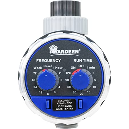 Yardeen Hose Water Timer Automatic Water Faucet Single Outlet Ball Valve Allow Connected Irrigation System Work Zero Pressure