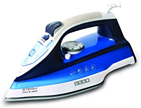 Usha Steam Pro SI 3820 Steam Iron 2000 W with Easy-Glide Durable Ceramic Soleplate, Powerful Steam Output from 73 Steam Ve...