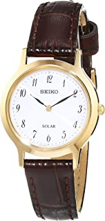 Seiko Women SUP370P Year-Round Analog Solar Powered Brown Watch