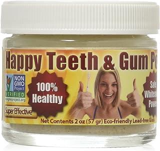 Gum Disease & Gum Recession Help - Organic Tooth Powder - Happy Teeth & Gum Powder - Gingivitis - Plaque - Bleeding - Sensitivity - Inflammation - Bad Breath - Peppermint - Whitening - Anti-Cavity
