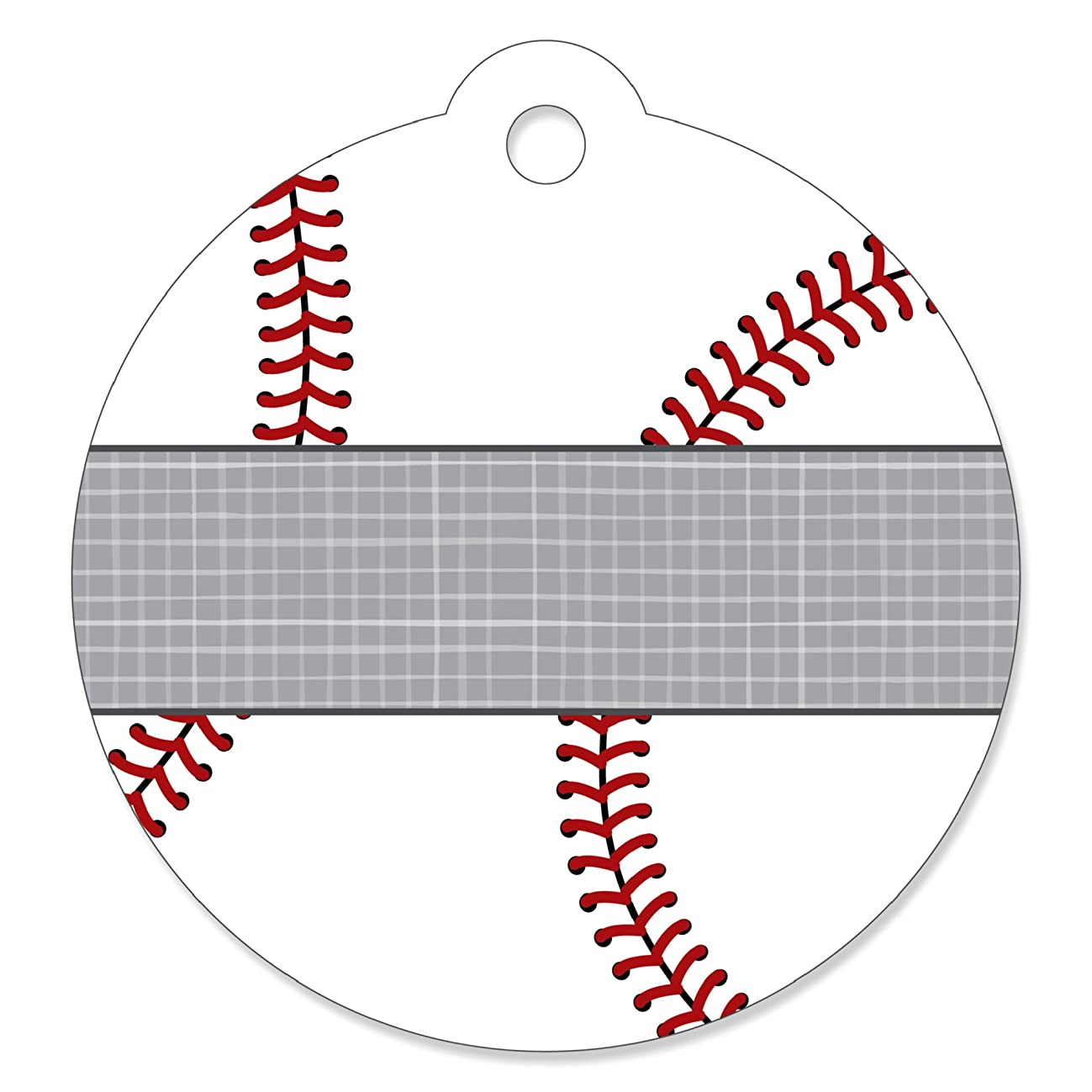 Batter Up - Baseball - Baby Shower or Birthday Party Favor Gift Tags (Set of 20)