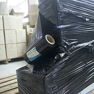 """Black Plastic Stretch Wrap Film 9""""×1000ft 80 Gauge Storage Industrial Mini Packing Shrink Wrap Film for Moving Shipping Protecting Packages to Be More Stable and Tidy"""