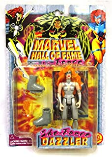 Marvel Dazzler Comics Hall of Fame SHE-Force Series 1997 Action Figure and Collector Trading Card