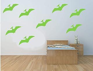20 x pegatinas de vinilo en forma de Dinosaurio Pterodactyl, hogar, muebles, ventana, espejo, computadora portátil, decora...