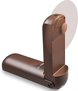 W17 Handheld Fan mobile phone,Dual Sim,Portable Mini Personal USB Fan with Camera TF Card Support Rechargeable 1800mAh Battery Operated -Brown