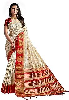 Hari Villa Creation Women Kanjivaram Silk Saree Pure With Blouse Piece