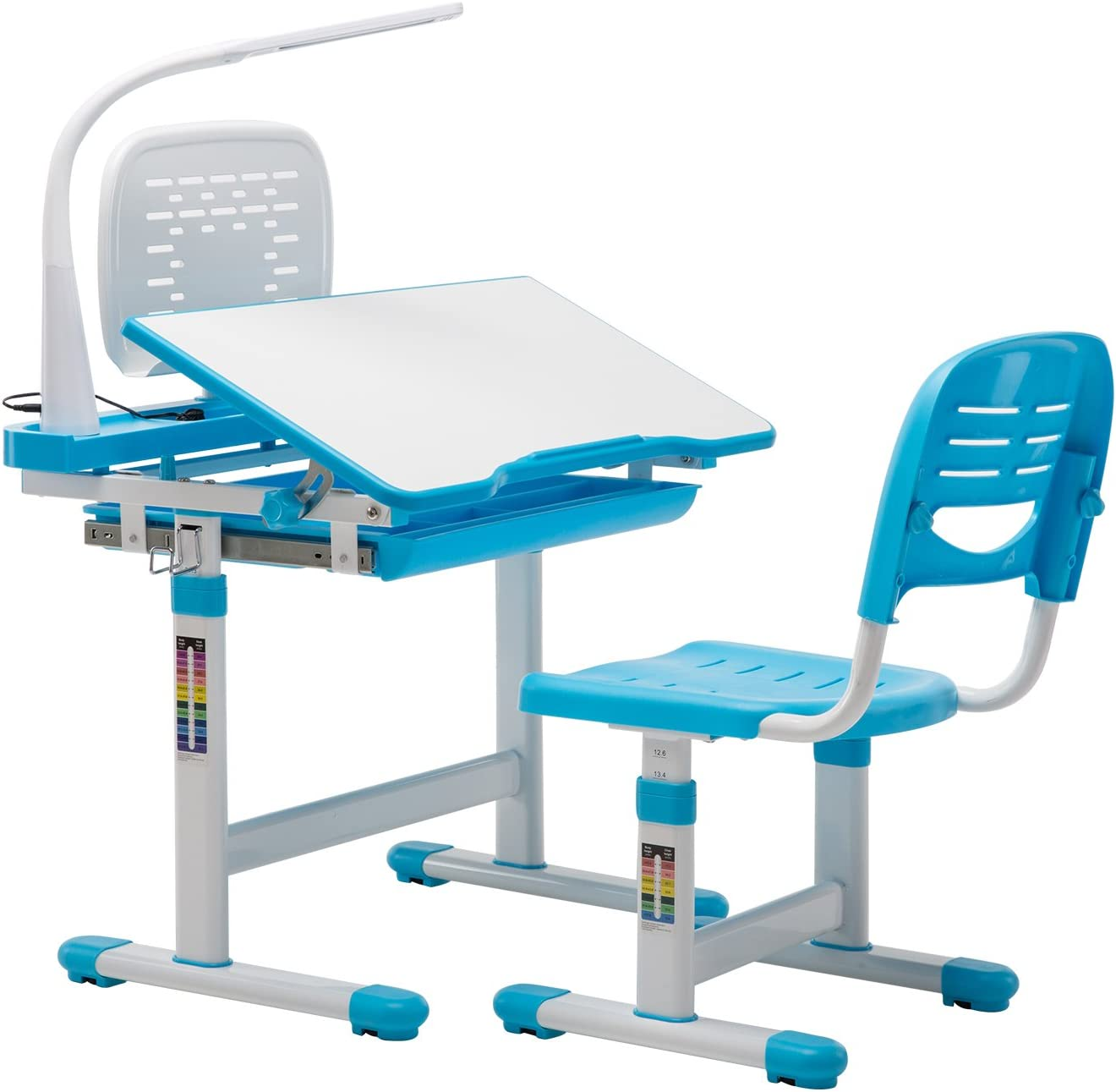 mecor Kids Desk and Chair Adjustable Children Set Direct sale 4 years warranty of manufacturer Student Height