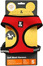 Rufus & Coco Soft Mesh Dog Harness Red Small