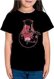 Camiseta de NIÑAS Stranger Things Once Series Retro 80 Eleven Will 036