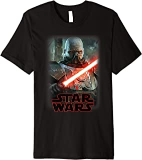 Darth Malgus Lightsaber Portrait Logo Premium T-Shirt
