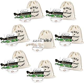 موكو كوو وصيفة العروس الحب عقدة أساور مجموعة 9 7 6 مجموعة عروس قبيلة الشعر والأساور الزفاف دش الكفة للبنات النساء