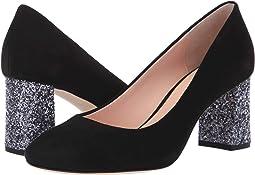 8334bb837bb7 Kate spade new york anastasia black kid suede glitter heel