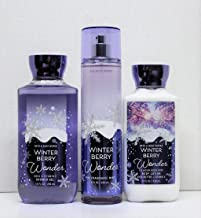 Bath and Body Works Winter Berry Wonder Shower Gel, Body Lotion, Fine Fragrance Mist Daily Trio 2018