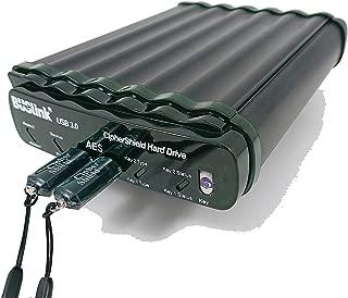 CipherShield Dual Keys FIPS 140-2 Level 2 HIPAA 256-bit AES USB 3.0 Encrypted RAID 0 Portable Hard Drive (10TB)